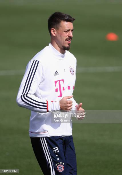 Sandro Wagner runs during a training session on day 6 of the FC Bayern Muenchen training camp at ASPIRE Academy for Sports Excellence on January 7...