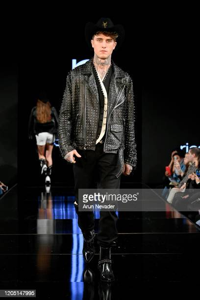 Sandro Yves walks the runway during Ricardo Seco At New York Fashion Week Powered By Art Hearts Fashion NYFW 2020 at The Angel Orensanz Foundation on...