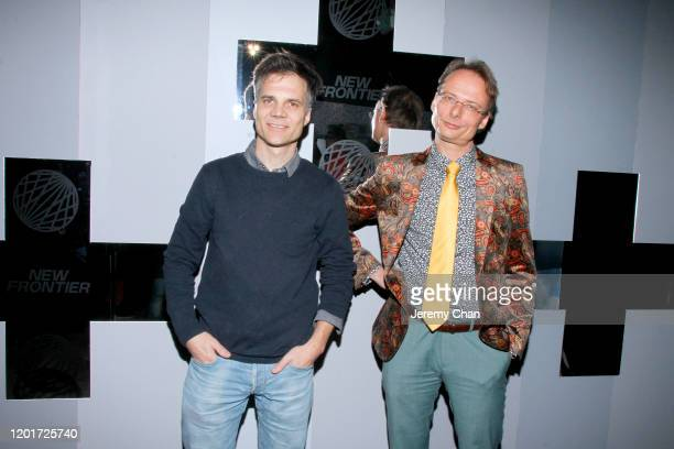 """Sandro Zollinger and Roman Vital of """"Go"""" attend the New Frontier Press Preview during the 2020 Sundance Film Festival at New Frontier Central on..."""