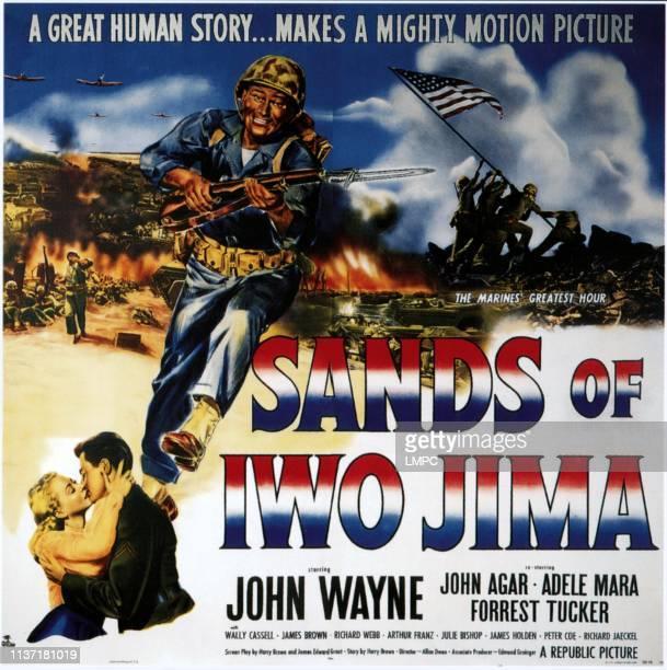 John Wayne bottom left from left Adele Mara John Wayne 1949