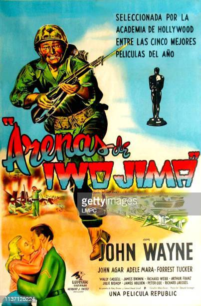 John Wayne lower left from left Adele Mara John Agar on circa early1950s