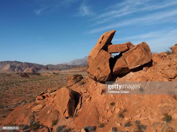 Sandstone Boulders  At Gold Butte National Monument