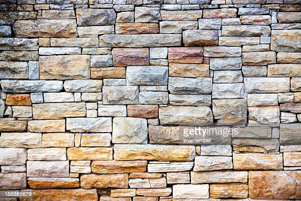 sandstone bricks wall - stone wall stock pictures, royalty-free photos & images