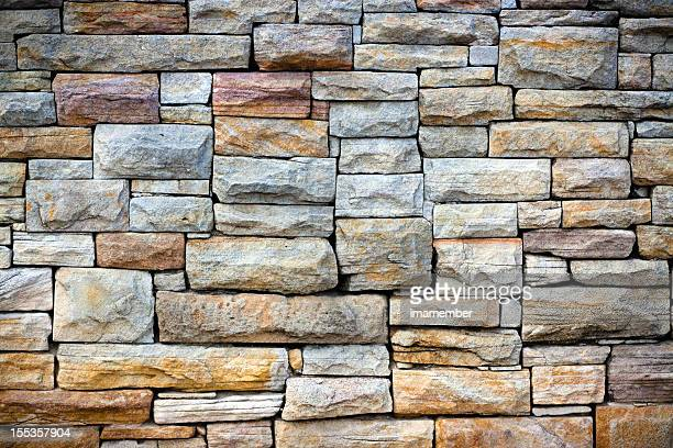Sandstone bricks wall with vignette