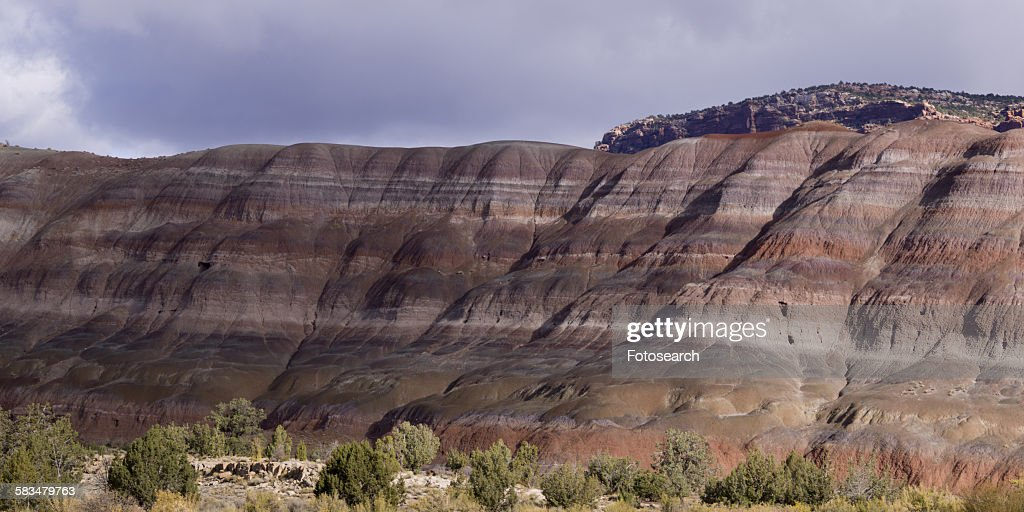 Sandstone cliffs in Paria Canyon : Stock Photo