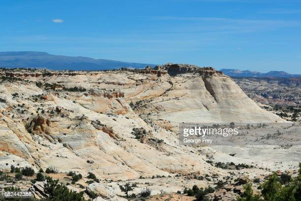 Sandstone formations are shown here in the Hells Backbone and Calf Creek area of the Grand StaircaseEscalante National Monument on May 11 2017...