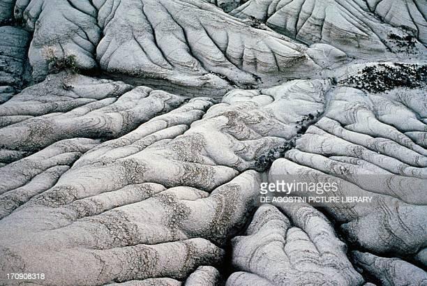 Sandstone formations Dinosaur Provincial Park Alberta Canada