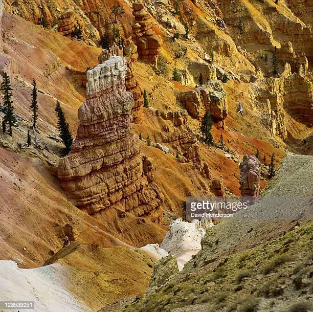 sandstone pillars in cedar breaks, utah, usa - erosionado fotografías e imágenes de stock