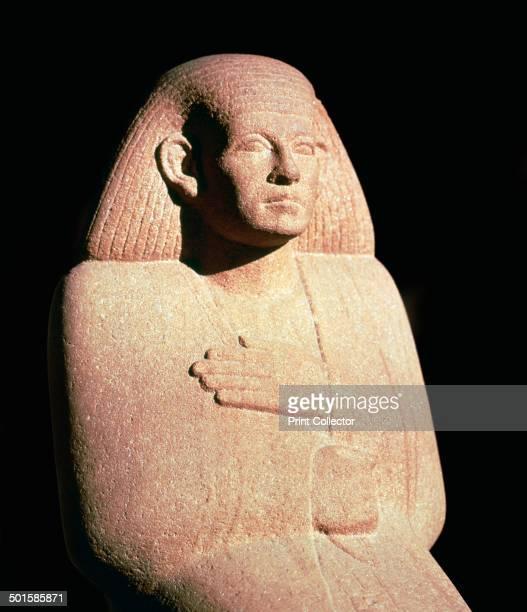 Sandstone sculpture of the Egyptian high priest Ankh Rekhu
