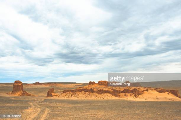 Sandstones are part of the Gobi desert landscape.