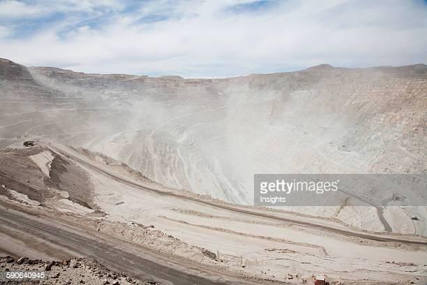 Sandstorm In Chuquicamata The Largest Open Copper Mine In The World Antofagasta Region Chile