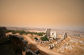 Sandstorm over the ruins of Saint Simeons, Syria.