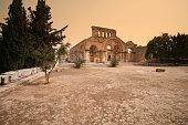 Sandstorm, Via Sacra, Church of St Simeon Stylites, Syria.