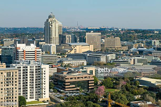 sandton city buildings and johannesburg - sandton stock pictures, royalty-free photos & images