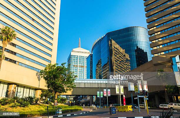 sandton city centre building skyline - sandton stock pictures, royalty-free photos & images