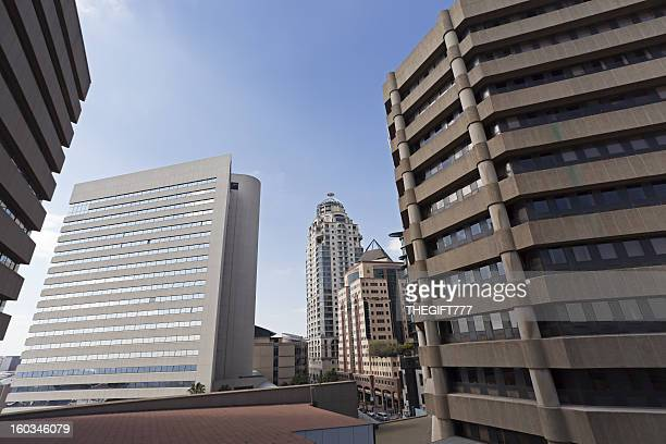 sandton city cityscape - sandton stock pictures, royalty-free photos & images