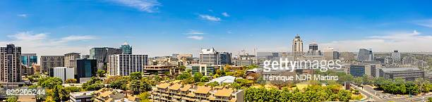 sandton city panorama in the daytime - sandton stock pictures, royalty-free photos & images