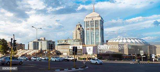 sandton city, with sandton shopping mall in johannesburg - sandton stock pictures, royalty-free photos & images