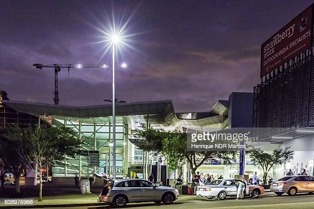 Sandton Gautrain Station in the evening