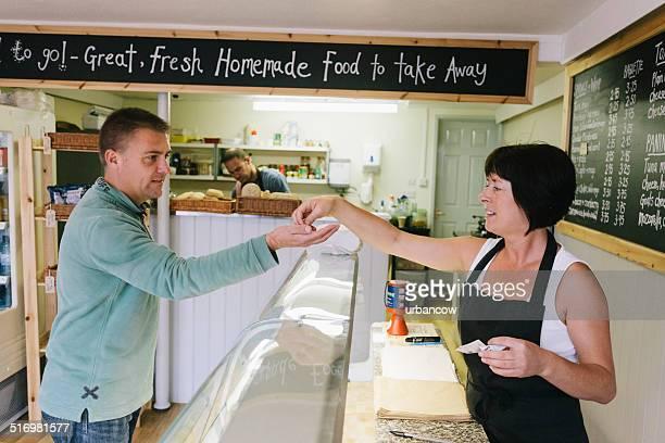 Sandwich bar customer
