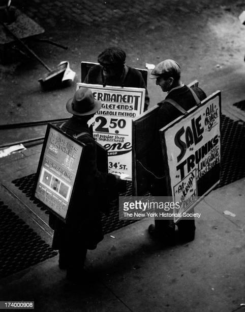 Sandwich Board Advertisers 1920s