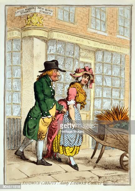 dainty Sandwich Carrots pub Hannah Humphrey 3rd December 1796 Lord Sandwich fondling a barrow girl
