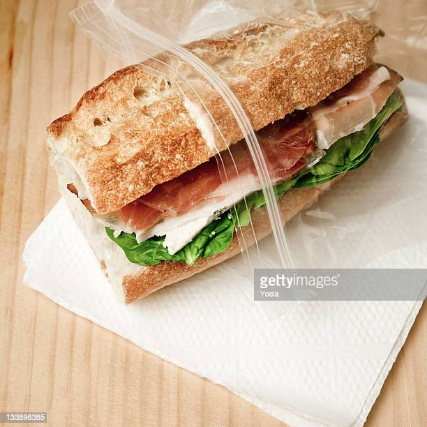Sandwich in freezer bag