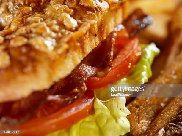 BLT Sandwich on Cheese Focaccia Bread