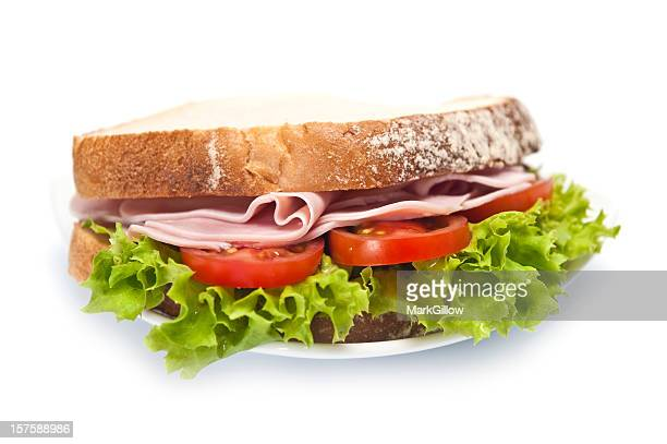 sandwich - romaine lettuce stock photos and pictures