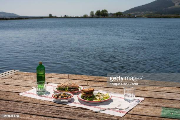 Sandwiches and Potato Salad Picnic on the Miño River 1