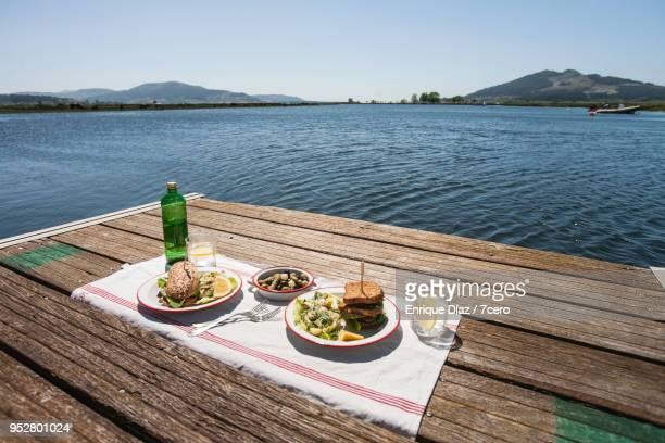Sandwiches and Potato Salad Picnic on the Miño River 2