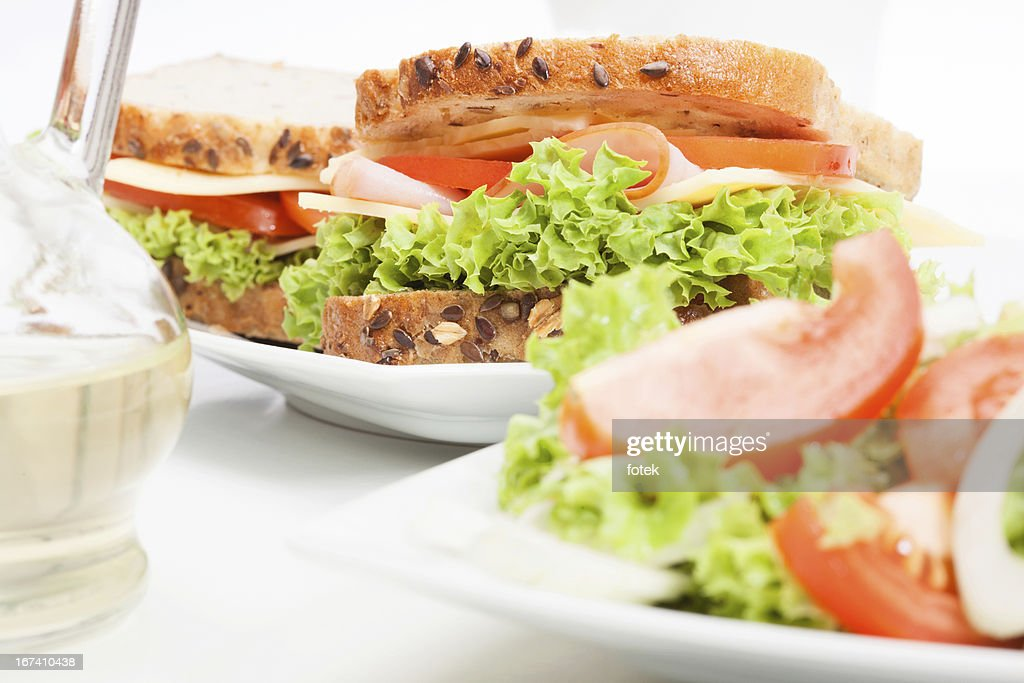 Sandwichs et salades : Photo