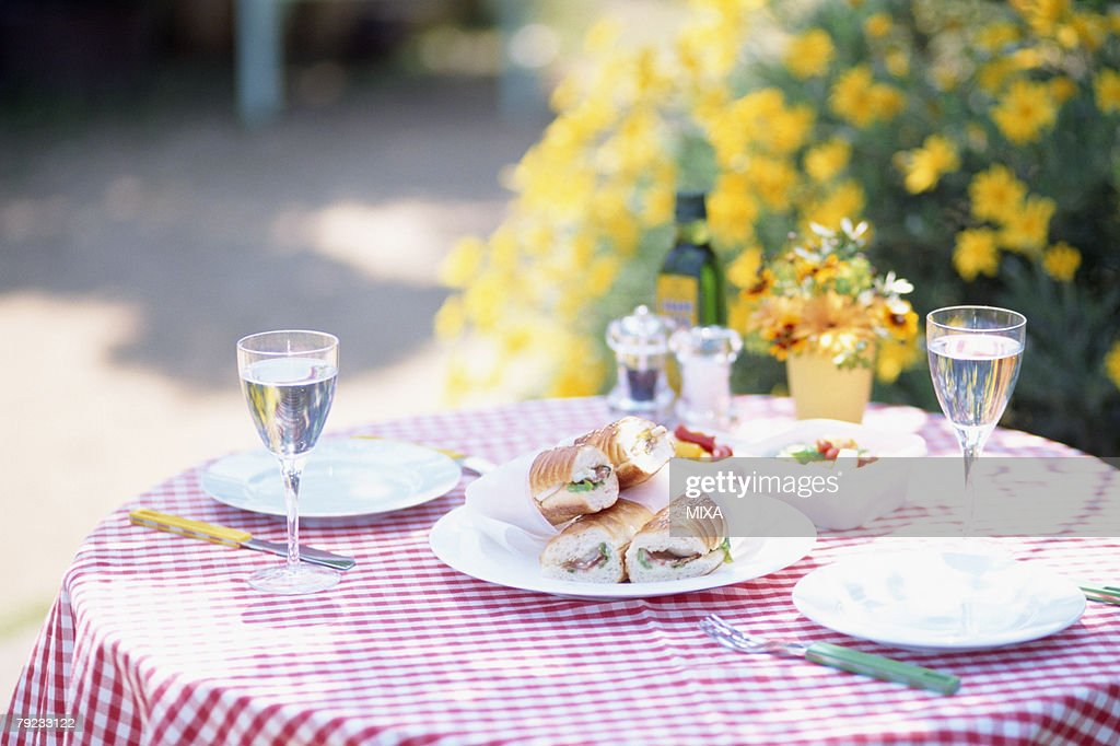 Sandwiches on a table : Stock Photo