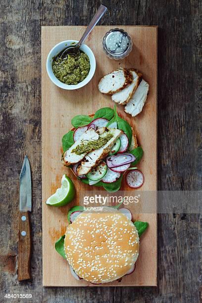 Sandwiches mit Geflügel