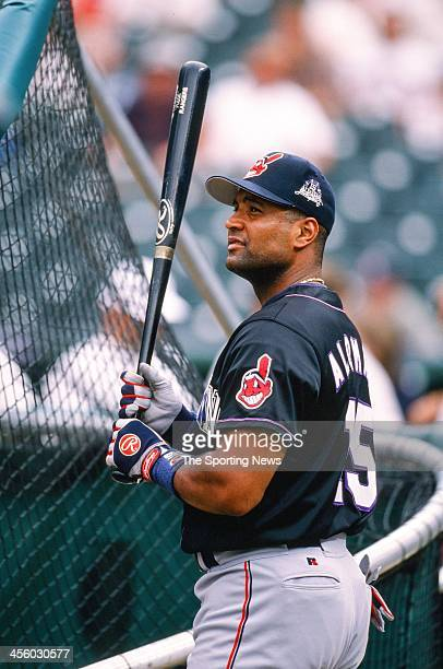 Sandy Alomar Jr. Of the Cleveland Indians during the All-Star Game on July 7, 1998 at Coors Field in Denver, Colorado.