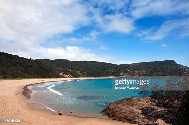 Sandy bay beach.