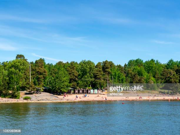 Sandy beach in the Suomenlinna Islands