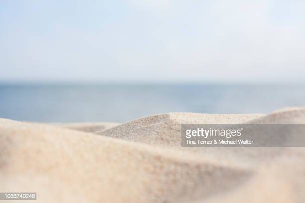 sandy beach on the isle of sylt - beach stockfoto's en -beelden