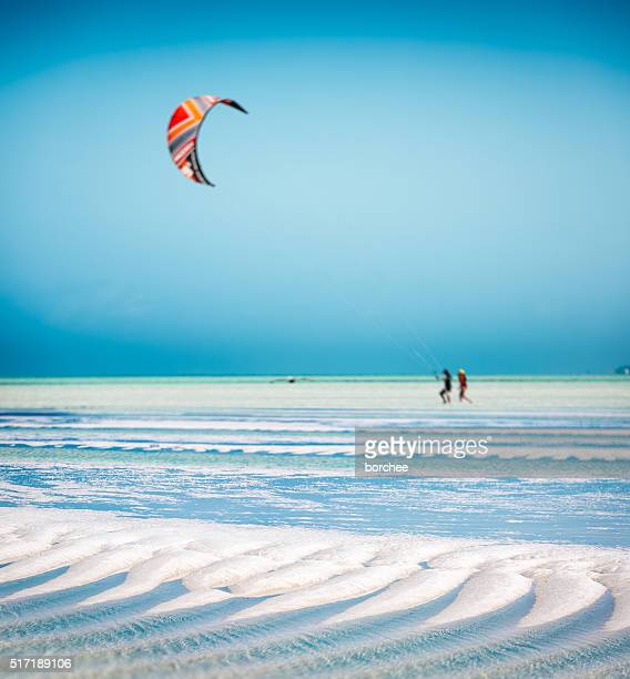 Sandy Beach On Zanzibar Island