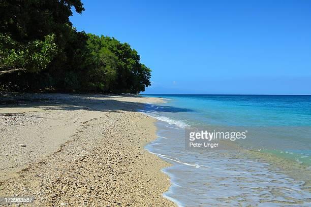 Sandy beach, Pentecost Island, Vanuatu