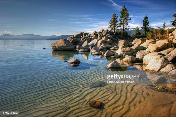sandy bottom - lake tahoe stock photos and pictures