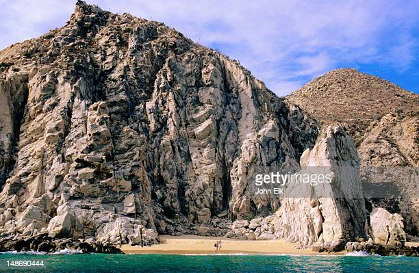 sandy cove, east side of cape. - baja east stock pictures, royalty-free photos & images