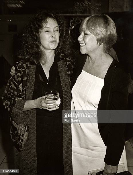 Sandy Dennis and Dorothy Loudon during Supporting Cast Premiere Party August 6 1981 at Milford Plaza Hotel in New York City New York United States