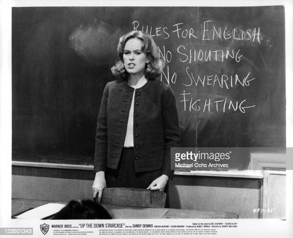 Sandy Dennis Posts Classroom Rules In A Scene From The Film Up The