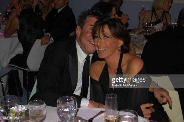 Sandy Gallin and Donna Karan attend the 2004 Vanity Fair Oscar Party at Mortons on February 29 2004 in Beverly Hills California