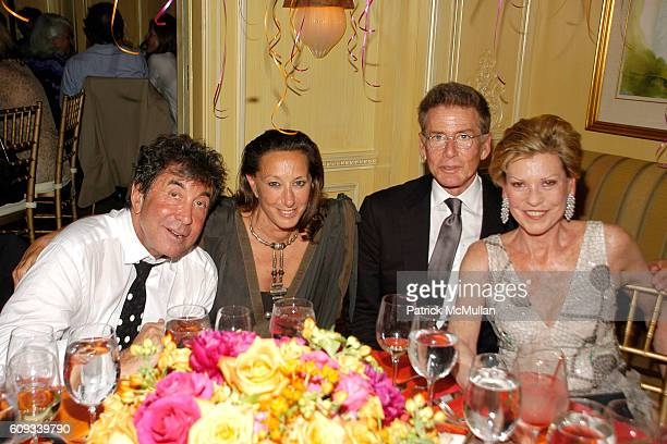 Sandy Gallin Donna Karan Calvin Klein and Louise Grunwald attend PEGGY SIEGAL'S Birthday Celebration at Hotel Plaza Athenee on June 26 2007 in New...
