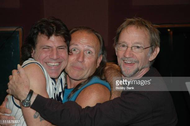 Sandy Gennaro, Mark Farner and Peter Tork during Rock N Roll Fantasy Camp Day 4 at Rock N Roll Fantasy Camp in New York City, New York, United States.