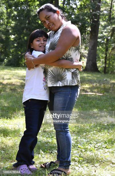 Sandy Gonzalez and her mother Angelica GonzalezGarcia together at a home in suburban Boston Massachusetts July 11 where the two are now staying Sandi...