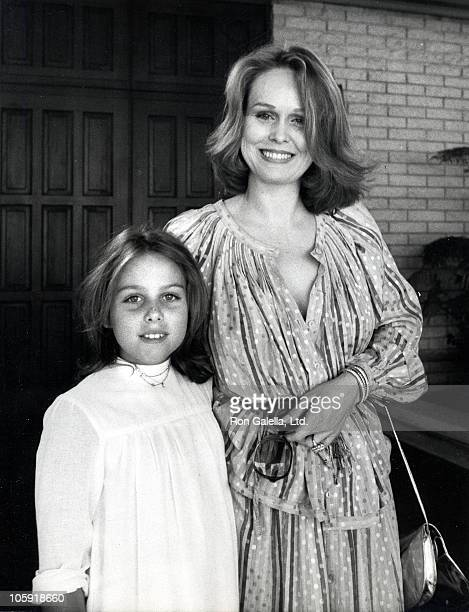 Sandy Grant and daughter during Debbie Boone and Gabriel Ferrer Wedding Reception September 1 1979 at Wilshire Country Club in New York City New York...