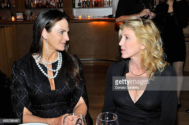 Sandy Hill and Kevyn Wynn attend a private dinner in honor of Frederic Malle hosted by Barneys New York and Gelila Puck at CUT Sidebar on December 11...